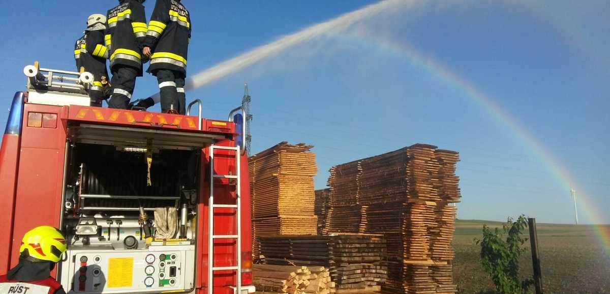 Feuerwehr Sägewerk