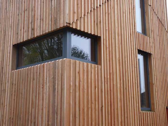Holzfassade und Innenausbau
