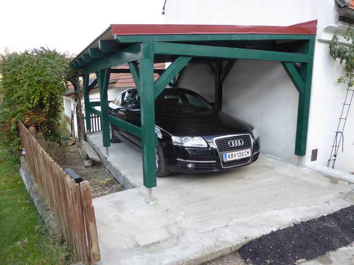 Carport grün