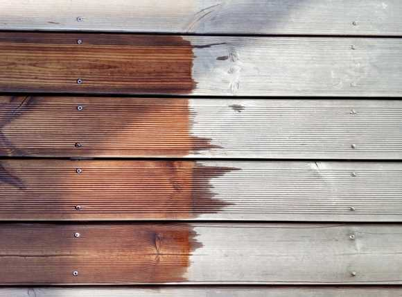 Terrasse reinigen ölen