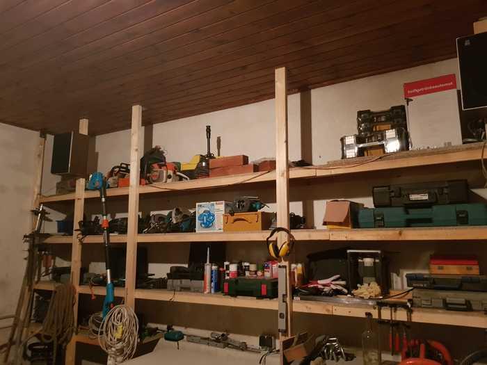 Stellage 6m Länge für Werkstatt