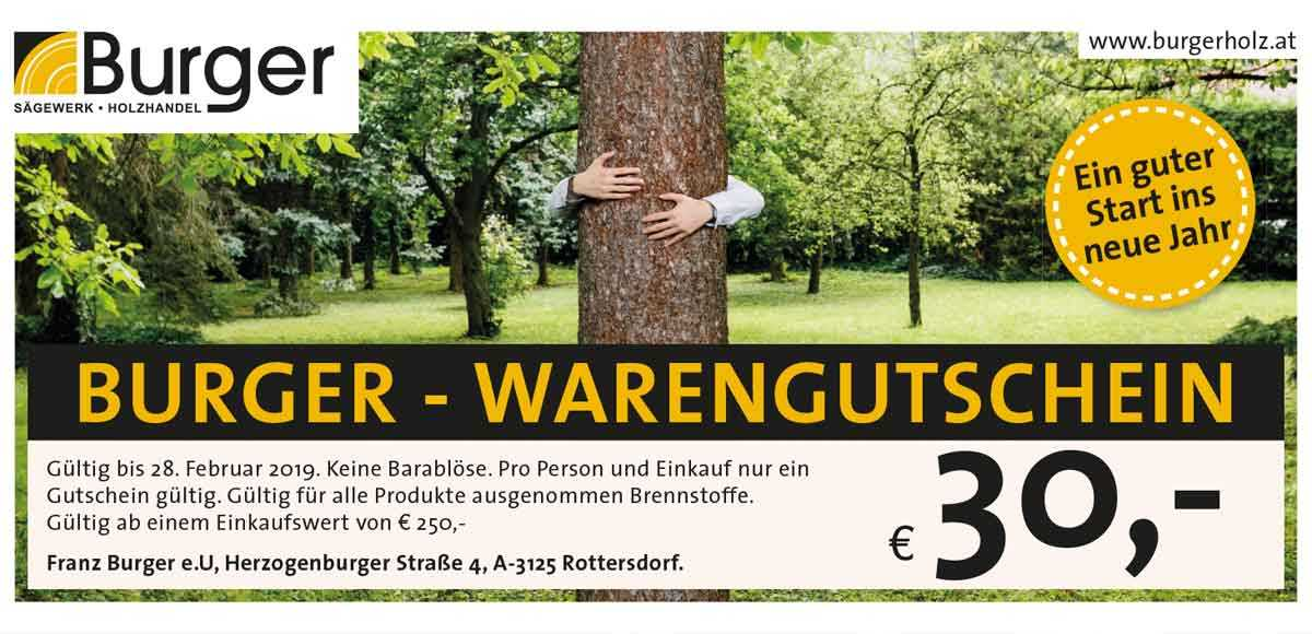 Burger Warengutschein