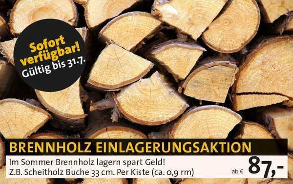 Brennholz Einlagerung