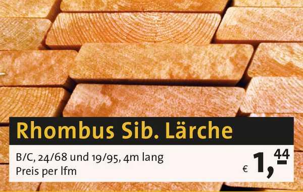 Rhombus sibirische Lärche