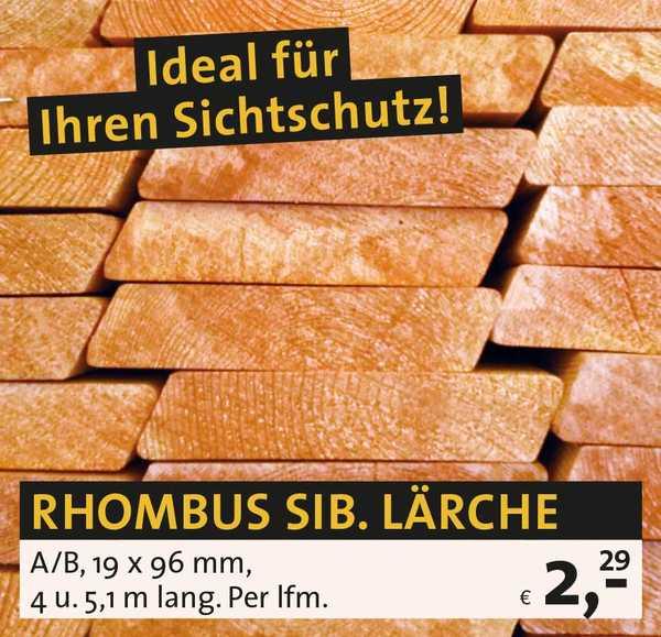 Rhombus sib. Lärche