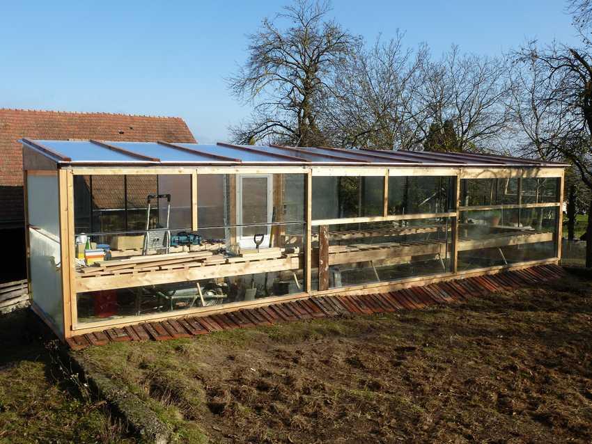 Glashaus Garten