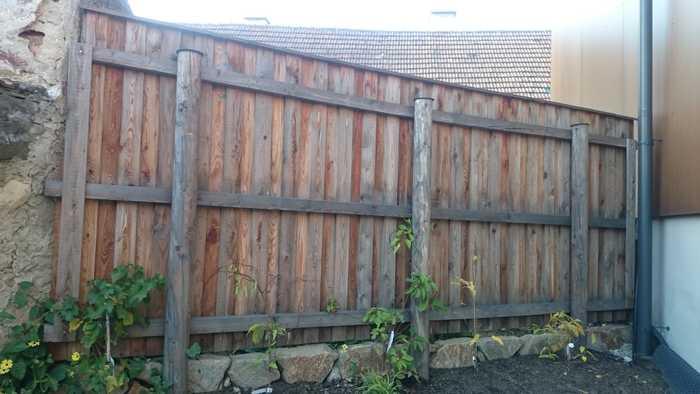 Zaun rustikal