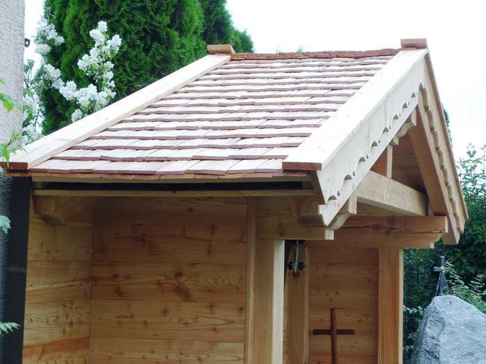 Holzschindel Gartenhütte