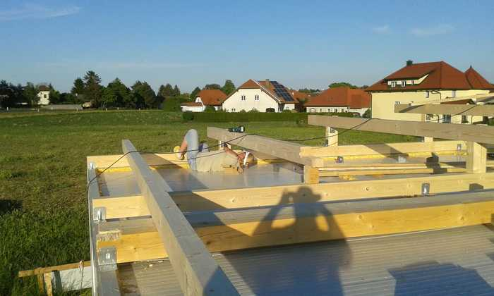 KVH Fichte für Pultdach Dachstuhl