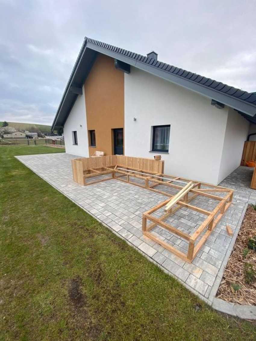 Garten Lounge aus Lärchen Glattkantbretter