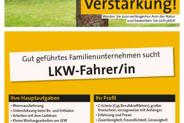 Job LKW-Fahrer/in