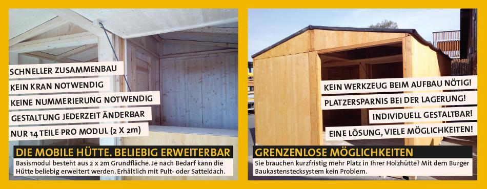 Holzhütte für Veranstaltung