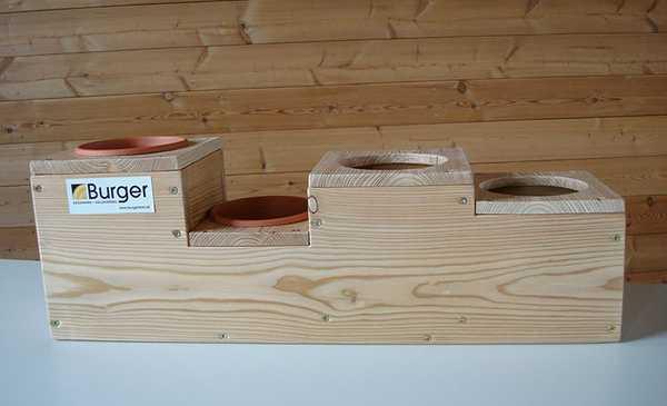 Kräuter Holzbox